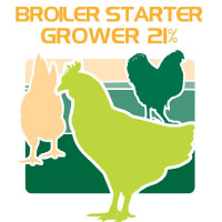 broiler starter grower 21% protein feed bag icon