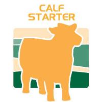 calf starter feed bag icon