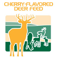 cherry flavored deer corn feed bag icon