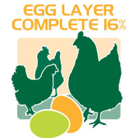 egg layer complete 16% protein feed bag icon