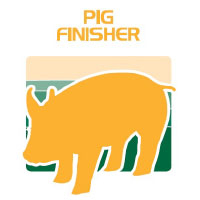 pig finisher feed bag icon