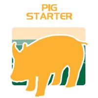 pig starter feed bag icon
